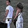 Jennifer Aniston and Justin Theroux Pictures at Christine Taylor&#039;s Party
