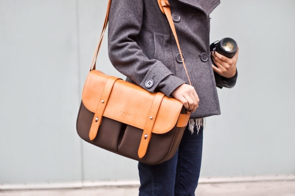 Classic Leather Camera Satchel ($190)