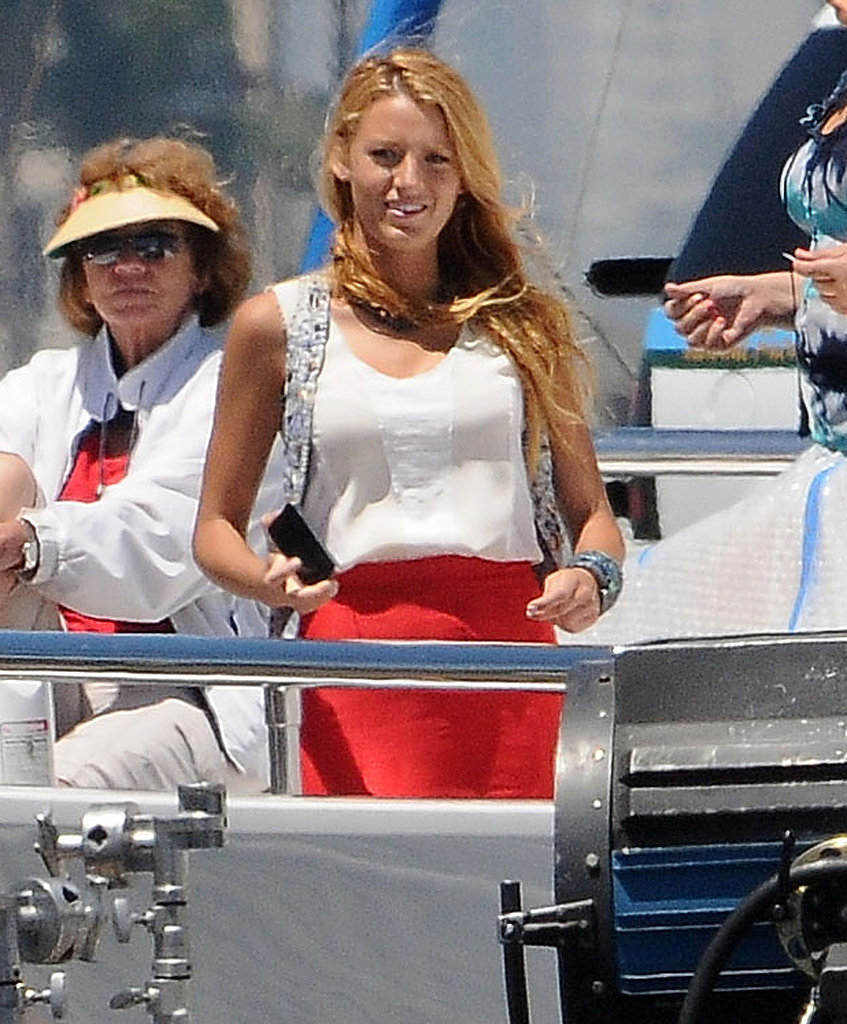 Blake flashed her famous smile.