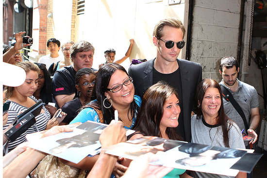 "Alexander Skarsgard Jokes About Naked Scenes and His ""Harry Potter"" Moment in NYC"