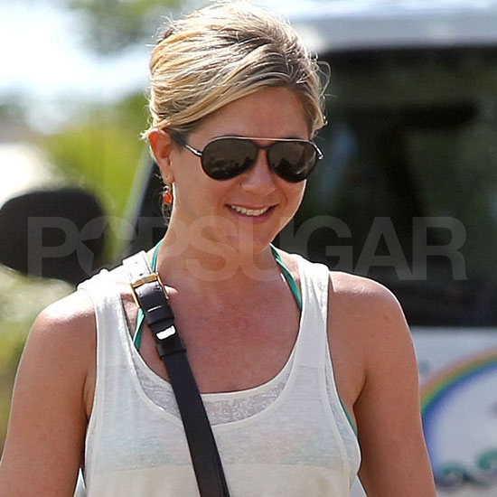 Jennifer Aniston smiles in Hawaii.