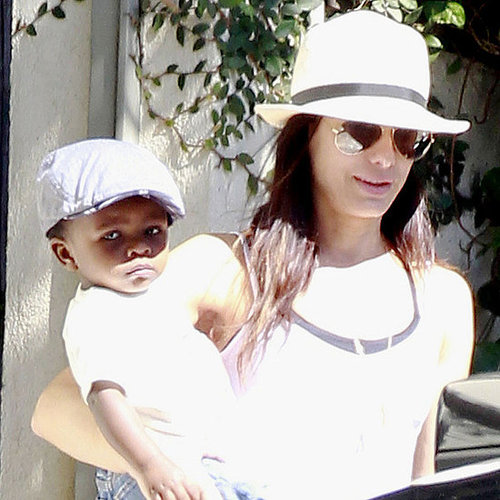 Sandra Bullock and Louis Bardo Wearing Hats in LA Pictures