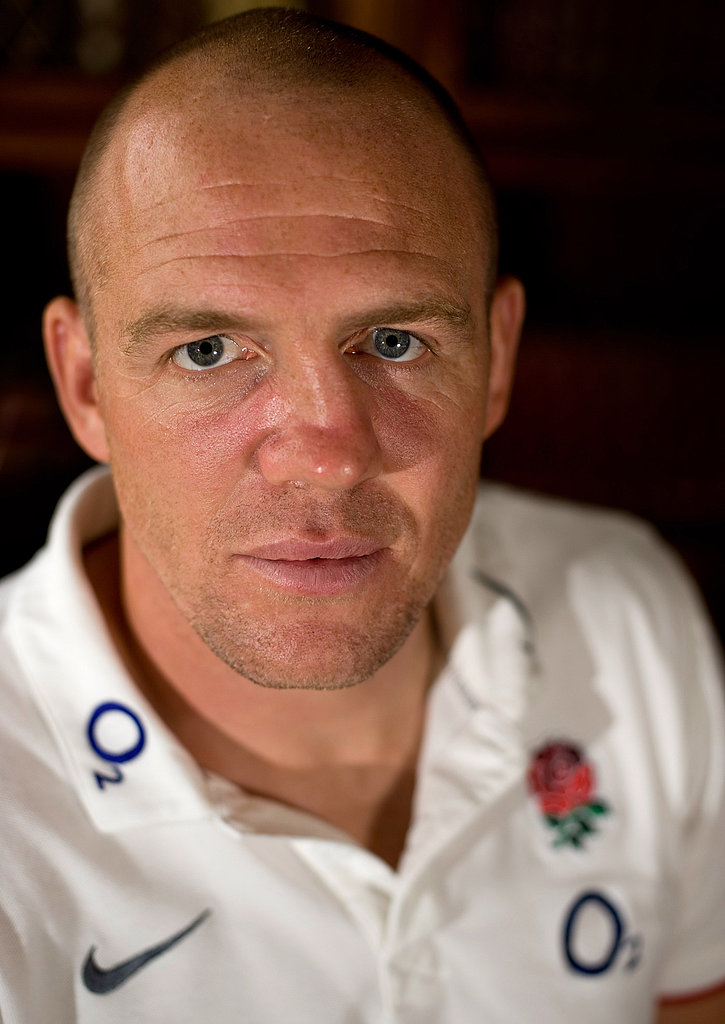 Mike Tindall in a rugby press photo.