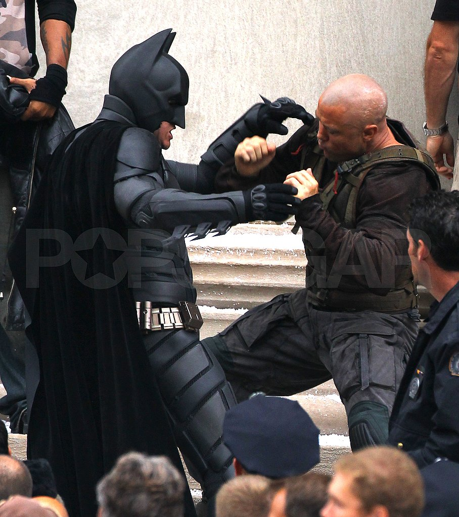 Christian Bale as Batman battled Tom Hardy as Bane.