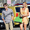 Blake Lively & Chace Crawford Filming Gossip Girl in Venice