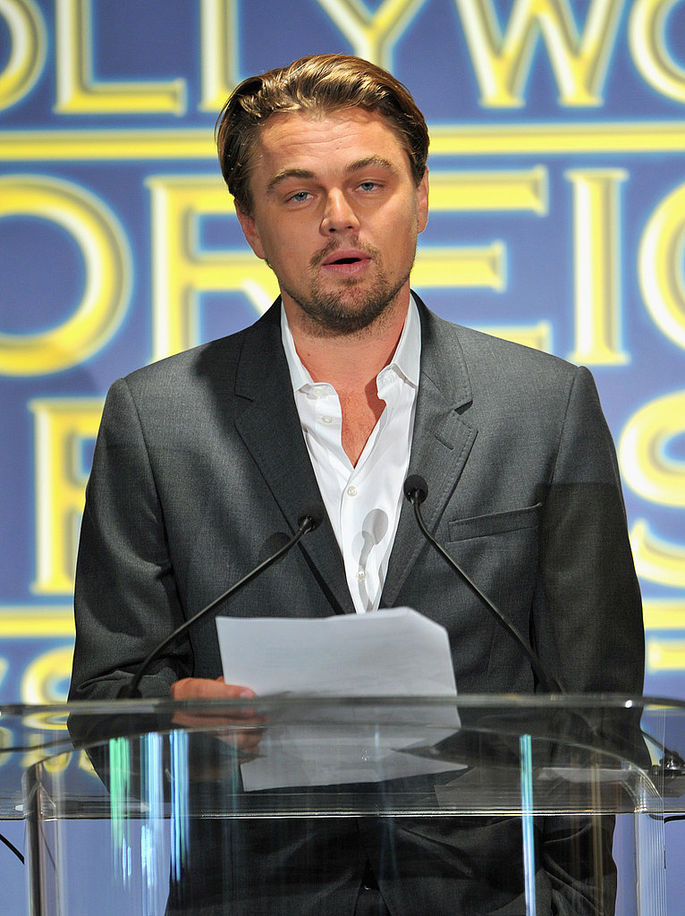 Leonardo DiCaprio took the podium.