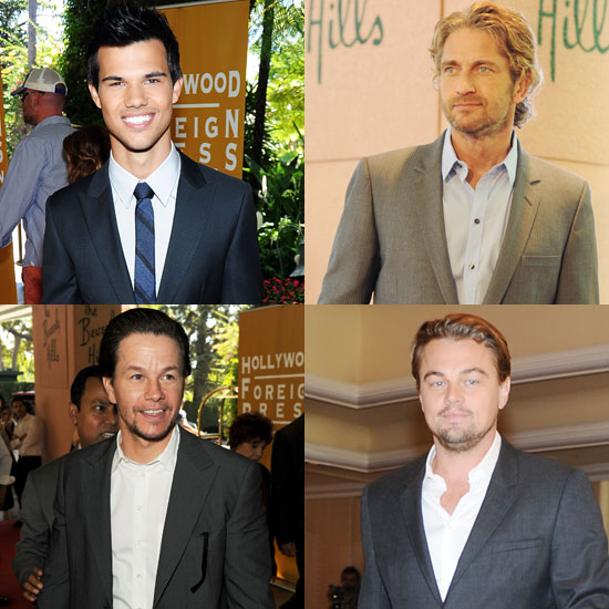 Leonardo DiCaprio, Taylor Lautner, and Gerard Butler Are Among the Hollywood Heartthrobs at the HFPA Annual Luncheon