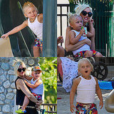 Zuma Rossdale Rules the Playground While Gwen Stefani Scores a Kim Kardashian Wedding Invite