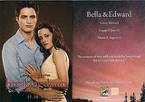 Edward and Bella&#039;s Breaking Dawn Promotional Card Now bigger