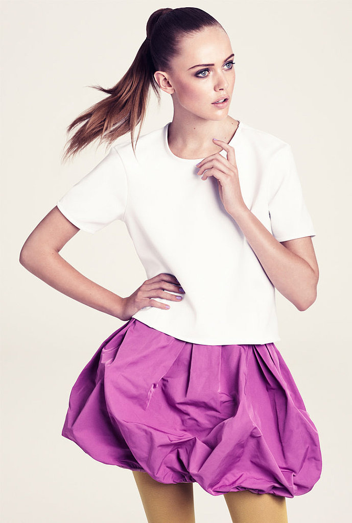 Frida Gustavsson Jumps for H&M's Color-Filled Winter 2011 Lookbook