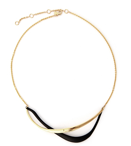 Alexis Bittar Two Slither Moon Necklace ($195)