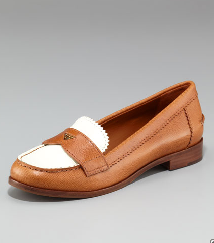 Tory Burch Pennie Two-Tone Loafer ($250)