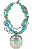 Lulu Frost Embellished Turquoise Necklace ($640)