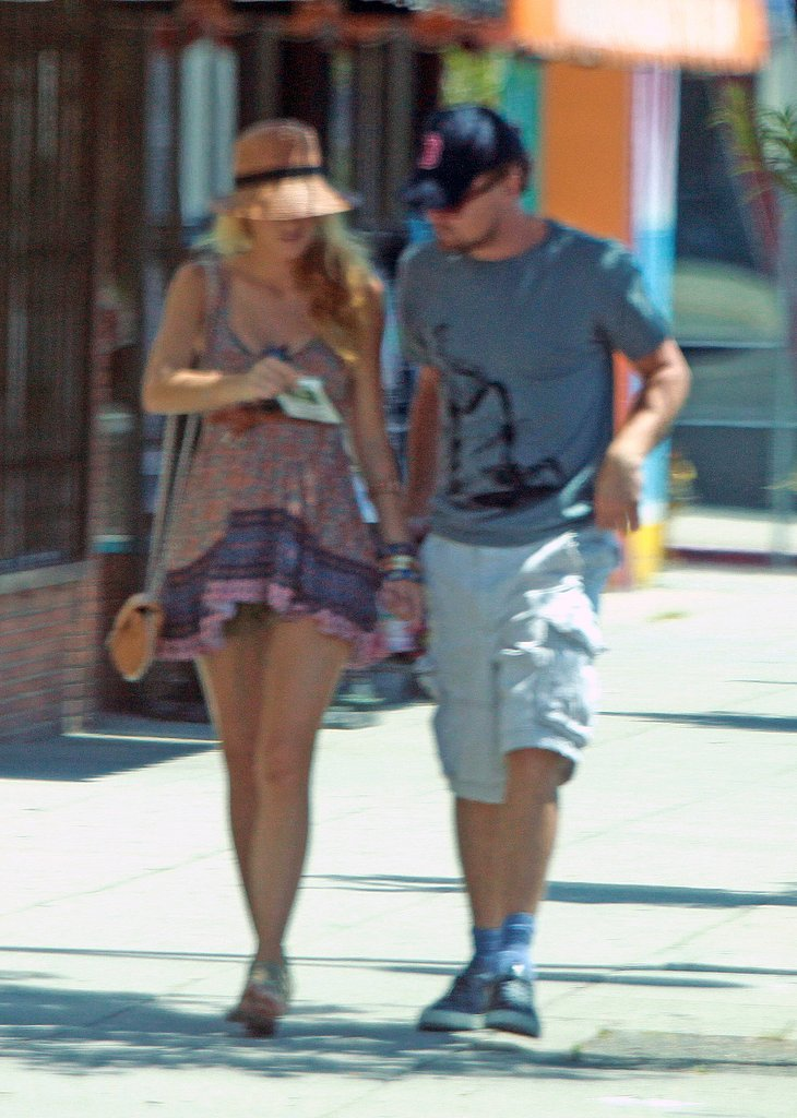 Blake Lively and Leonardo DiCaprio walk in LA.