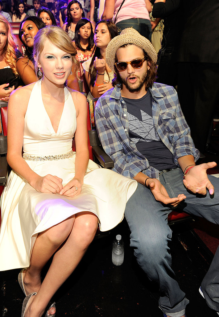 Ashton Kutcher and Taylor Swift at the TCAs.