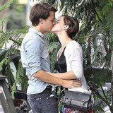 Emma Watson kissing The Perks of Being a Wallflower costar Johnny Simmons.