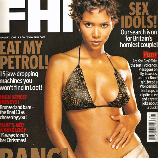 Halle Berry posed for Britain's FHM cover in January 2003.