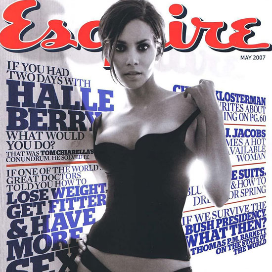Halle Berry posed for the camera during her May 2007 Esquire shoot.