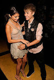 Justin Bieber and Selena Gomez goof around at the 2011 Teen Choice Awards.