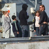 Brad Pitt Shows Young Costars the Ropes on the World War Z Set