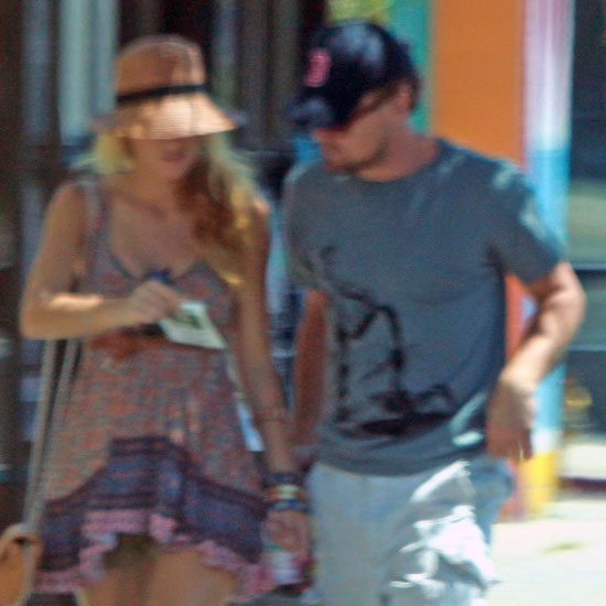 Blake Lively and Leonardo DiCaprio walking around LA.