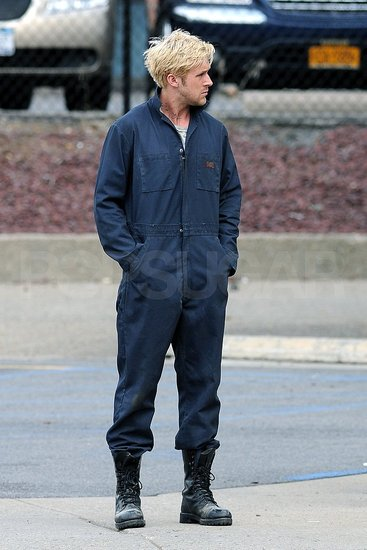 Ryan Gosling in coveralls.