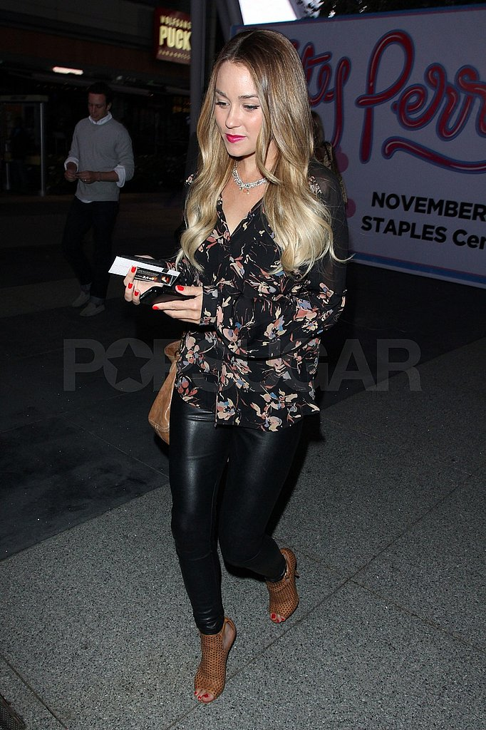 Lauren Conrad showed off her fit legs in a tight pair of black pants.