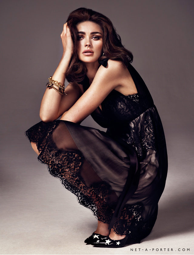 Have a boudoir moment in a lace dress this season.