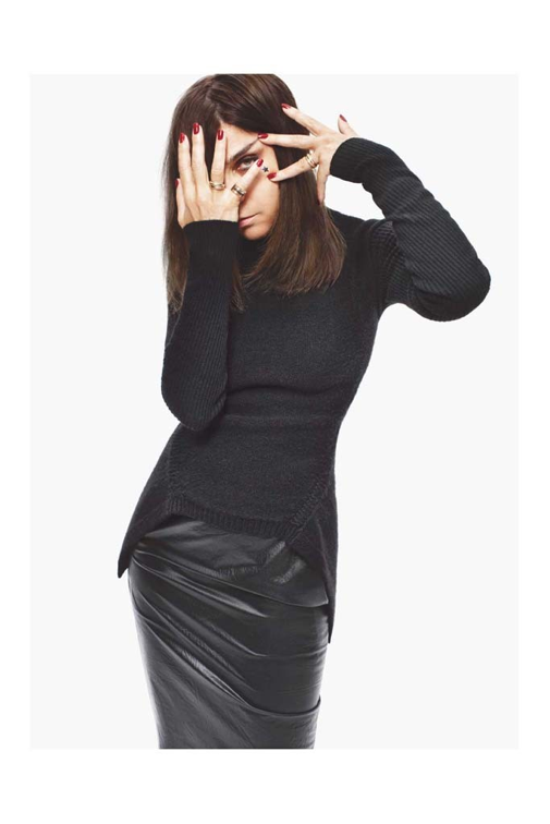 Carine Roitfeld in Rick Owens for Barneys New York