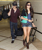 Ian Somerhalder and Nina Dobrev head out.