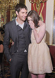 Anne Hathaway and Jim Sturgess laugh at the One Day after party.