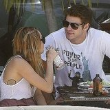 Liam Hemsworth joined Miley Cyrus for lunch in LA.