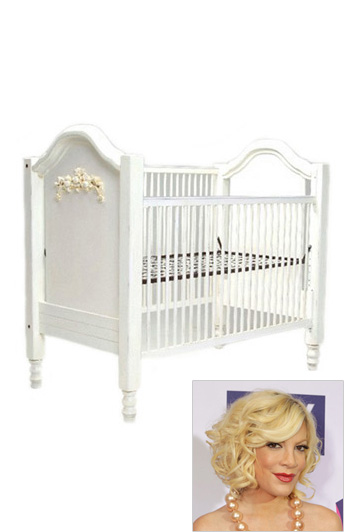 Tori Spelling: Newport Cottages Cape Cod Roses Crib ($1,395)