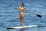 Alessandra Ambrosio out paddle boarding.