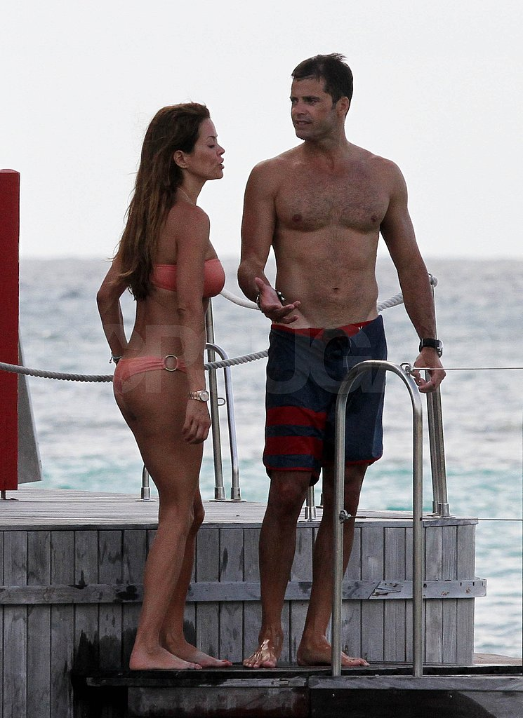 David Charvet and bikini-clad Brooke Burke in St. Bart's.