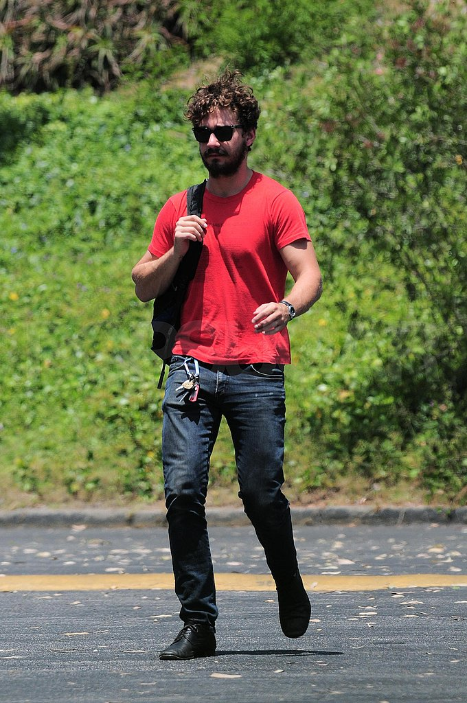 Shia LaBeouf looks scruffy.