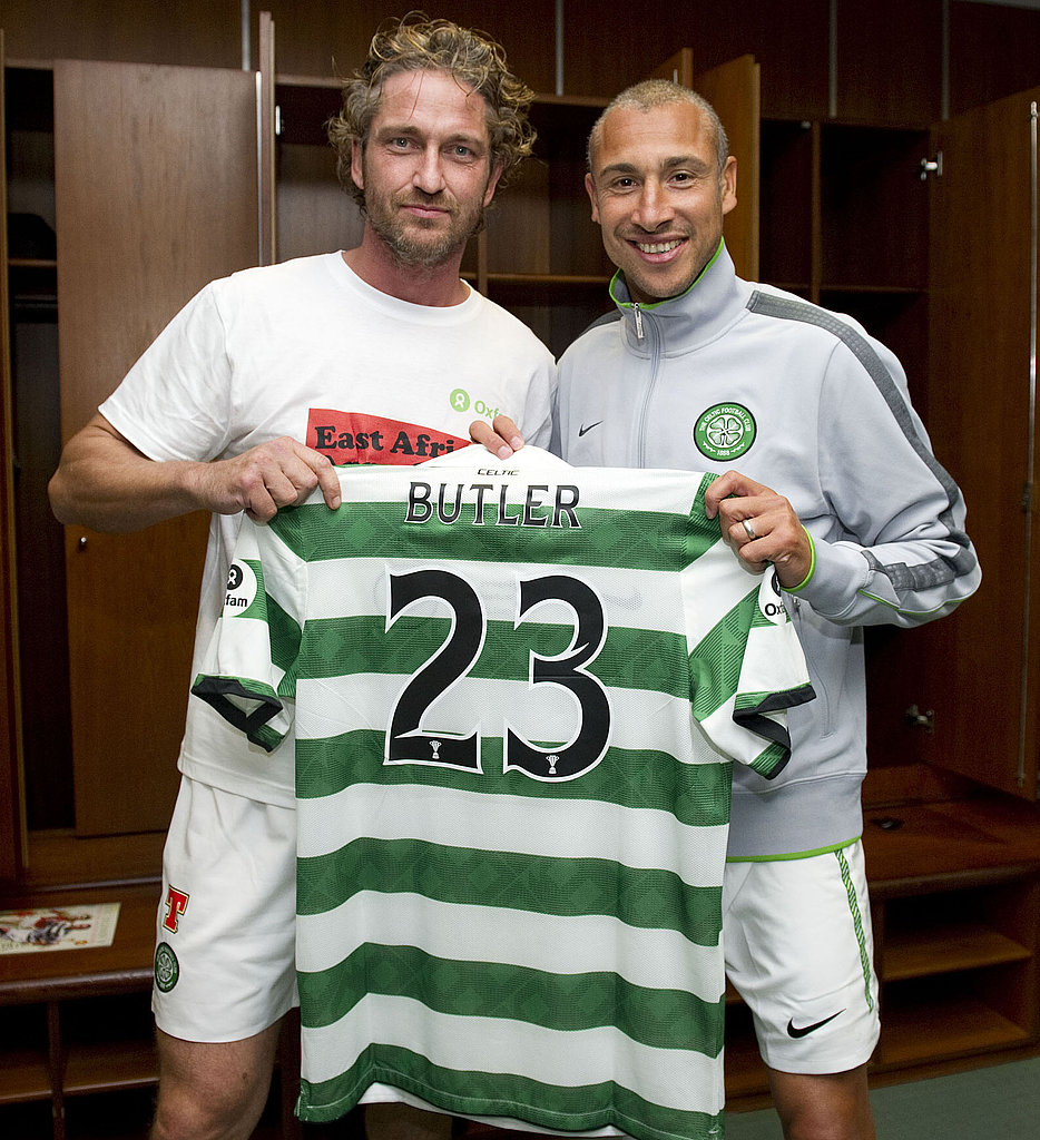 Gerard Butler proudly wore the number 23.