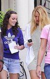 Blake Lively checked her iPhone.