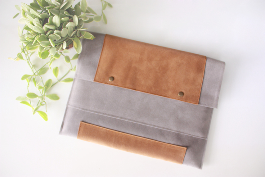 Gray Leather Tablet Sleeve ($35)