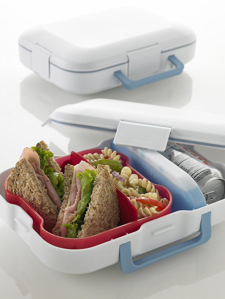 White Lunch and Go Lunch Box With Pink Bird Design ($13)