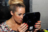 Lauren Conrad does makeup at an Alice + Olivia bash.