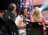 Katie Holmes joined Nigel Lythgoe, Mary Murphy, and Kenny Ortega on So You Think You Can Dance Wednesday night.