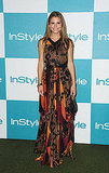 Maria Menounos in a tribal print maxidress.
