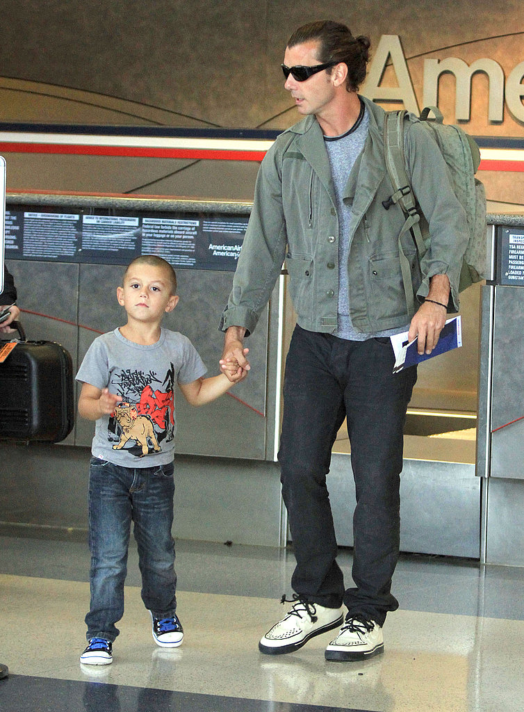 Kingston let Gavin hold his hand.