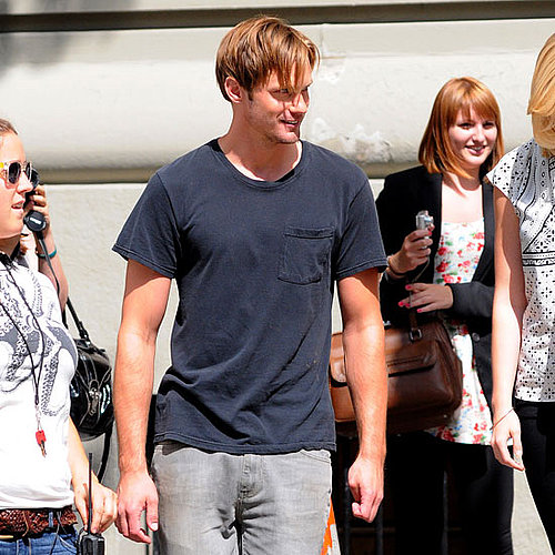 Pictures of Alexander Skarsgard Filming What Maisie Knew