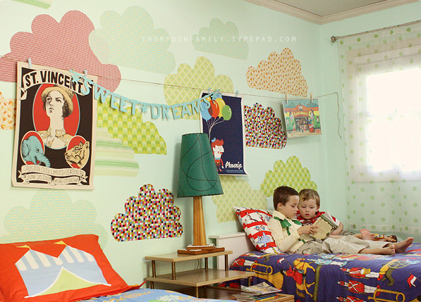 The idea of sharing a bedroom with a younger sibling might not be so appealing for some kiddos. Create a whimsical space (with your children's input) that incorporates all of their favorite things. Source: Danielle Thompson