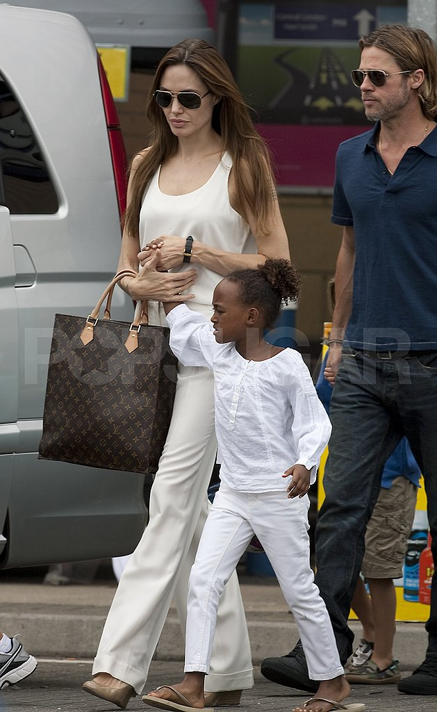 Angelina Jolie with her Louis Vuitton.