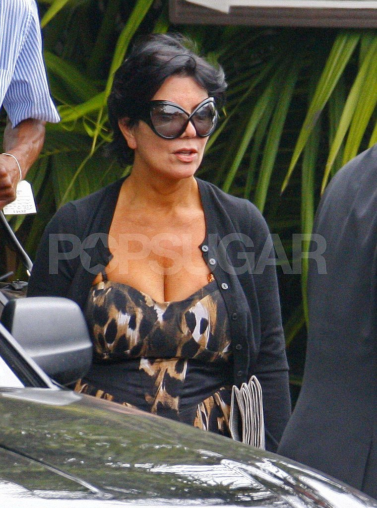 Kris Jenner leaving the Four Seasons.