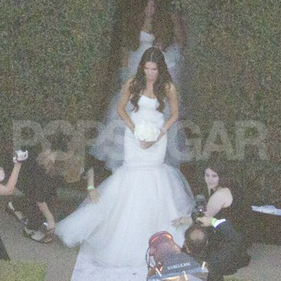 Kim Kardashian's wedding party.