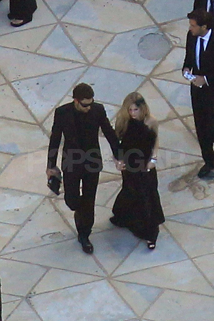 Avril Lavigne and Brody Jenner at Kim Kardashian's wedding.